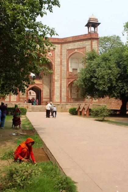 Outside Humayun's Tomb