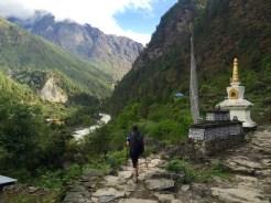 Buddhist Shrines Amidst Mountain Backdrop (Day 2 to Namche Bazaar)