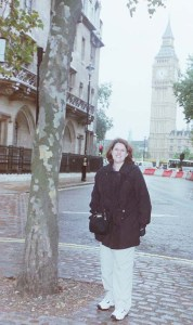 Tiffani standing in front of Big Ben in London