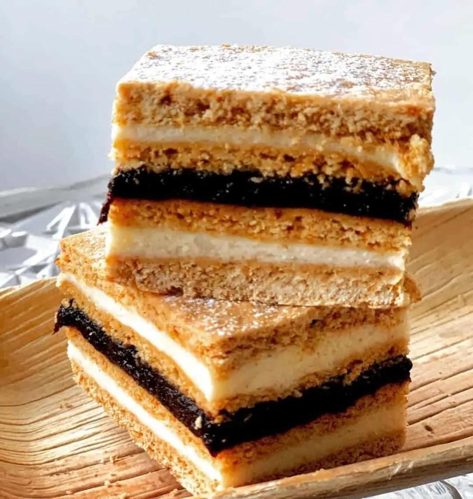 Albinita, a layered honey tray cake that is local to Romania.