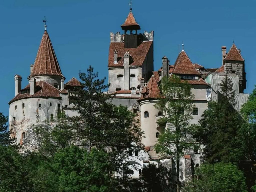 Bran Castle seen through the trees
