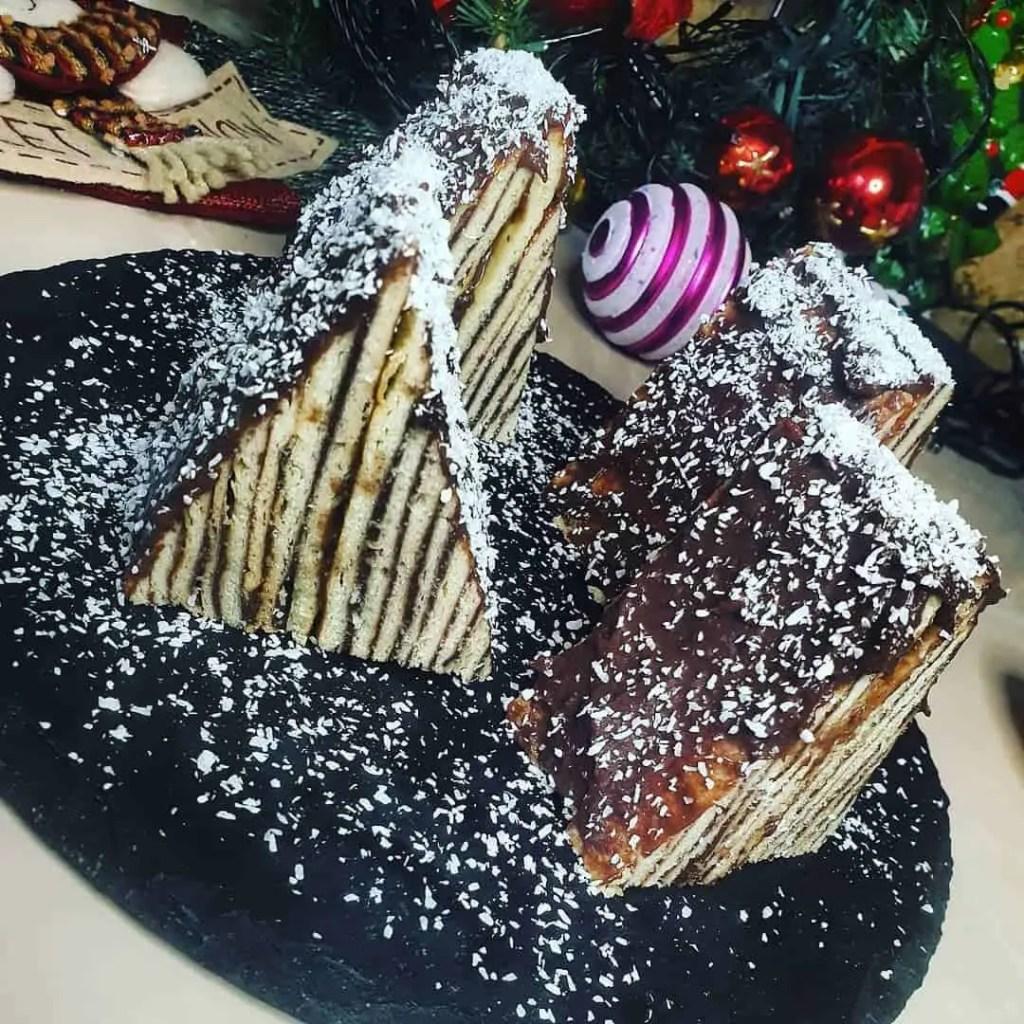 Cake made into the shape of Carpathian mountain peaks.