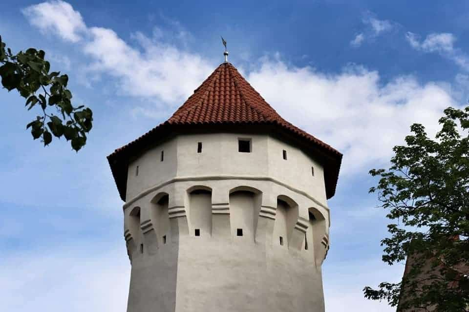 One of the towers on the City Walls in Sibiu, Romania, one of the best things to do in Sibiu.