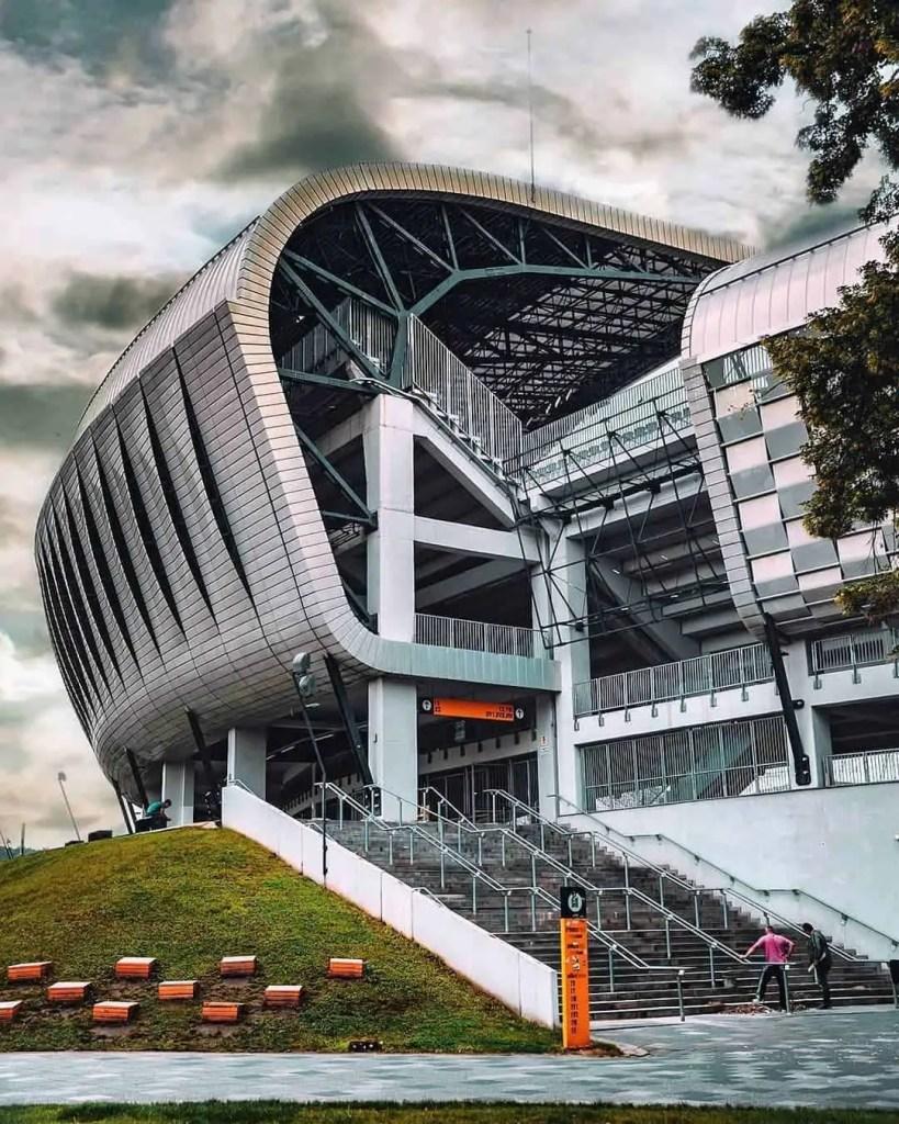 Large stadium (Cluj Arena) in Cluj Napoca, Romania