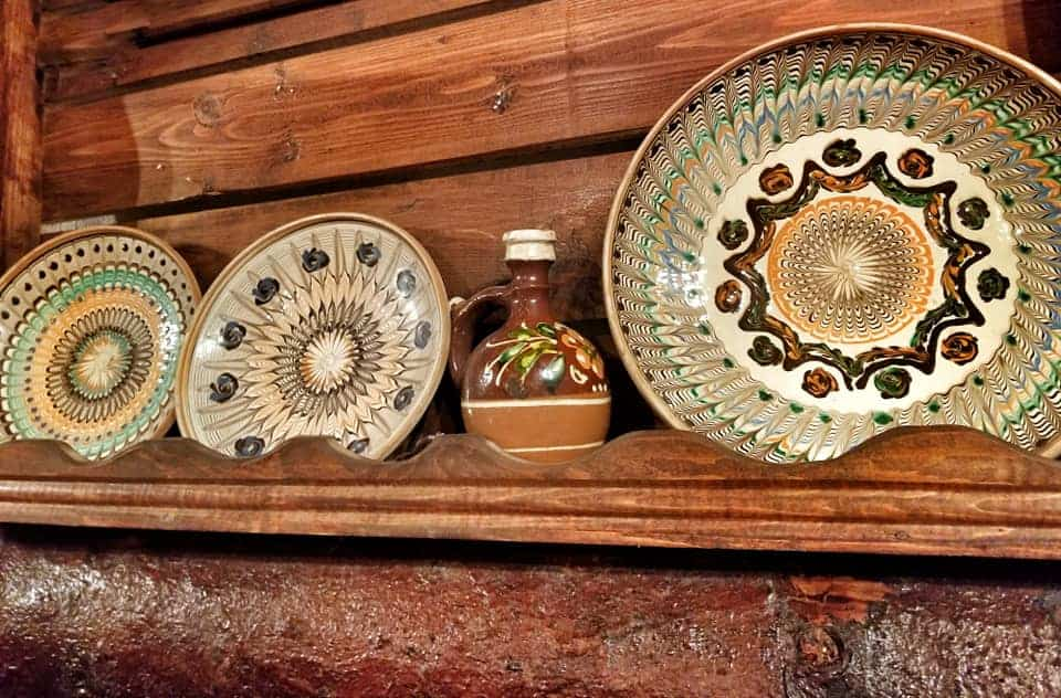 Hand painted Romanian plates