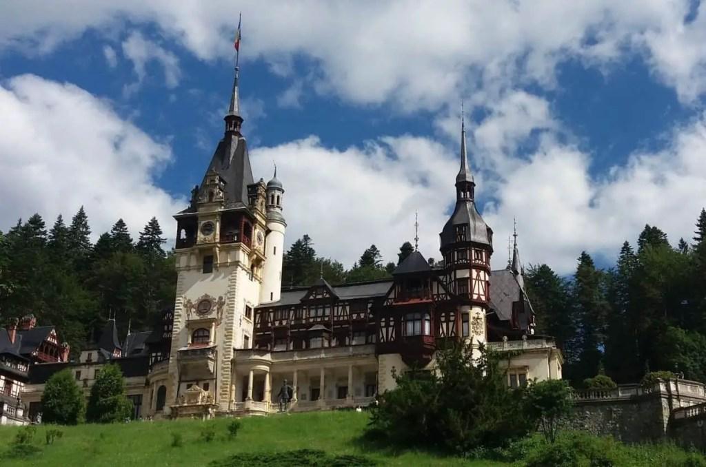 Peles Castle in Wallachia, just outside of Transylvania in the Bucegi mountains.