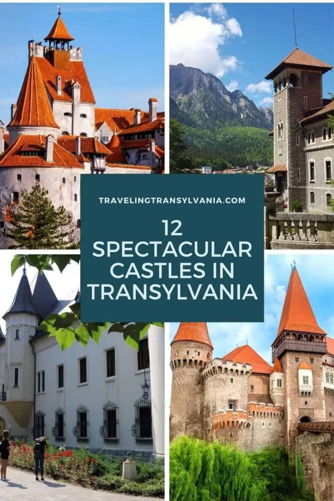Pinterest Graphic - 12 spectacular castles in Transylvania