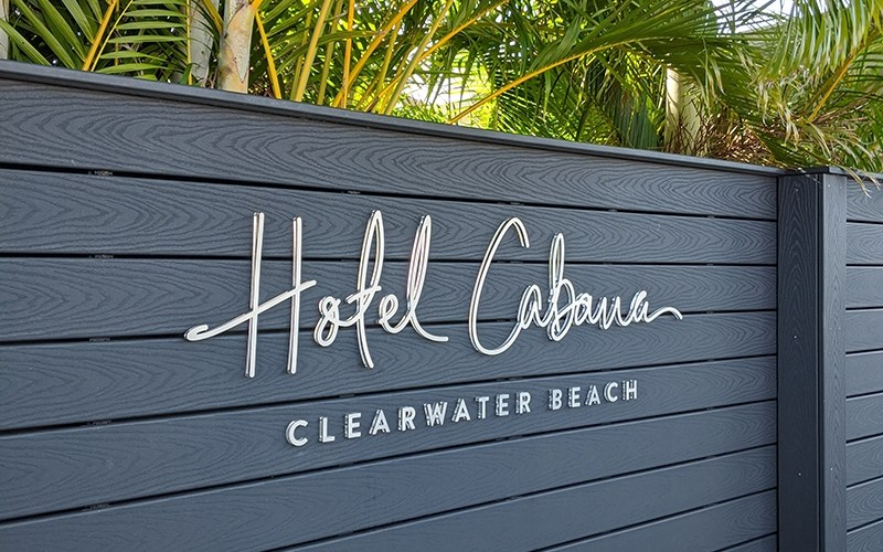 Hotel Cabana Clearwater Beach Welcome Sign