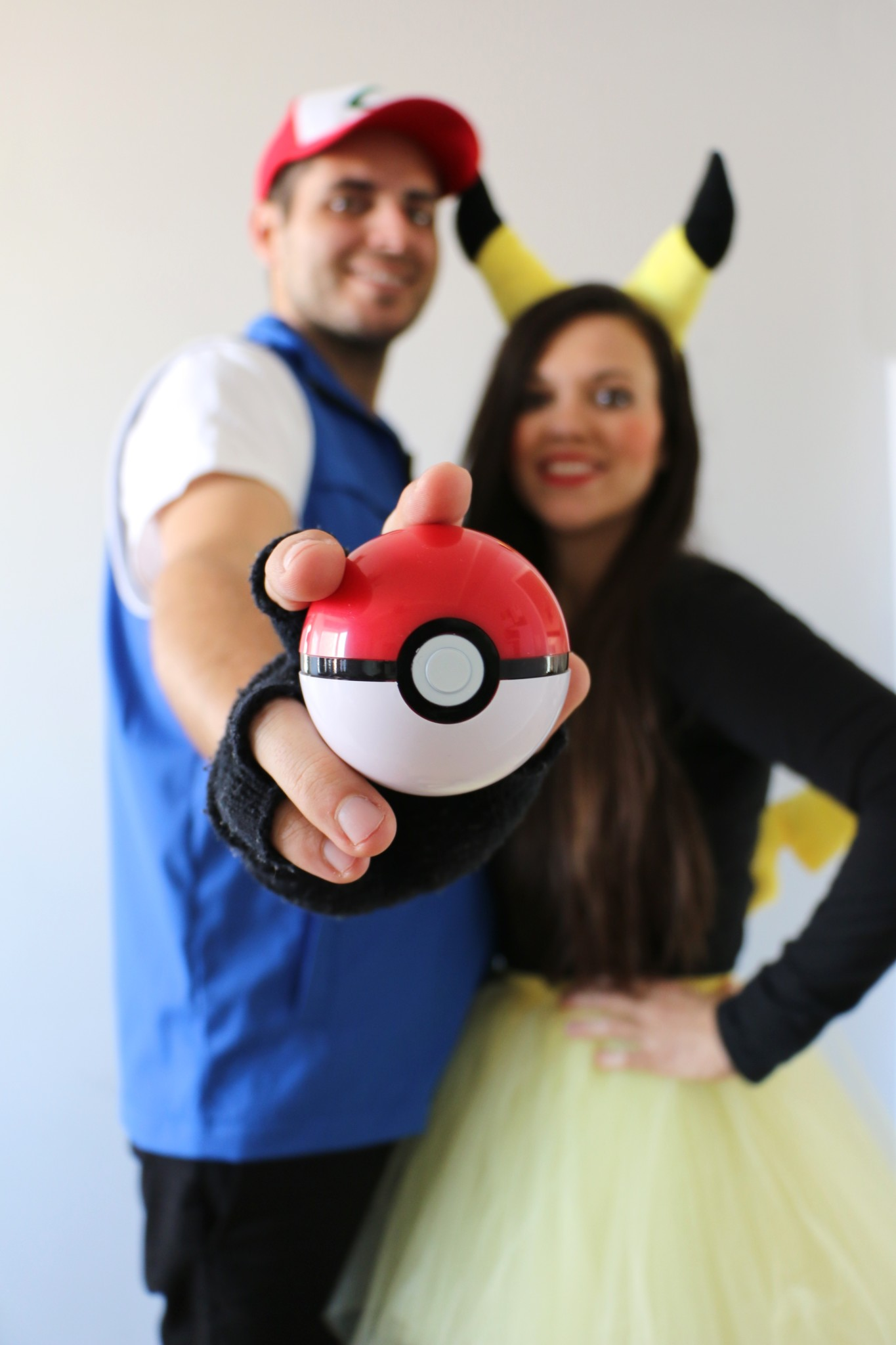 Family Costume: Ash, Pikachu & Pokemon Ball