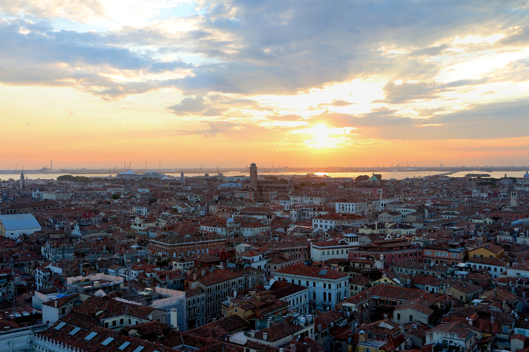 Sunset from a Bell Tower, Venice