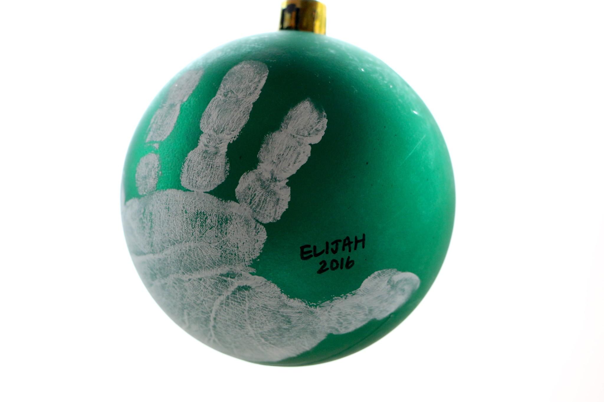 Christmas Ball Handprint Ornament