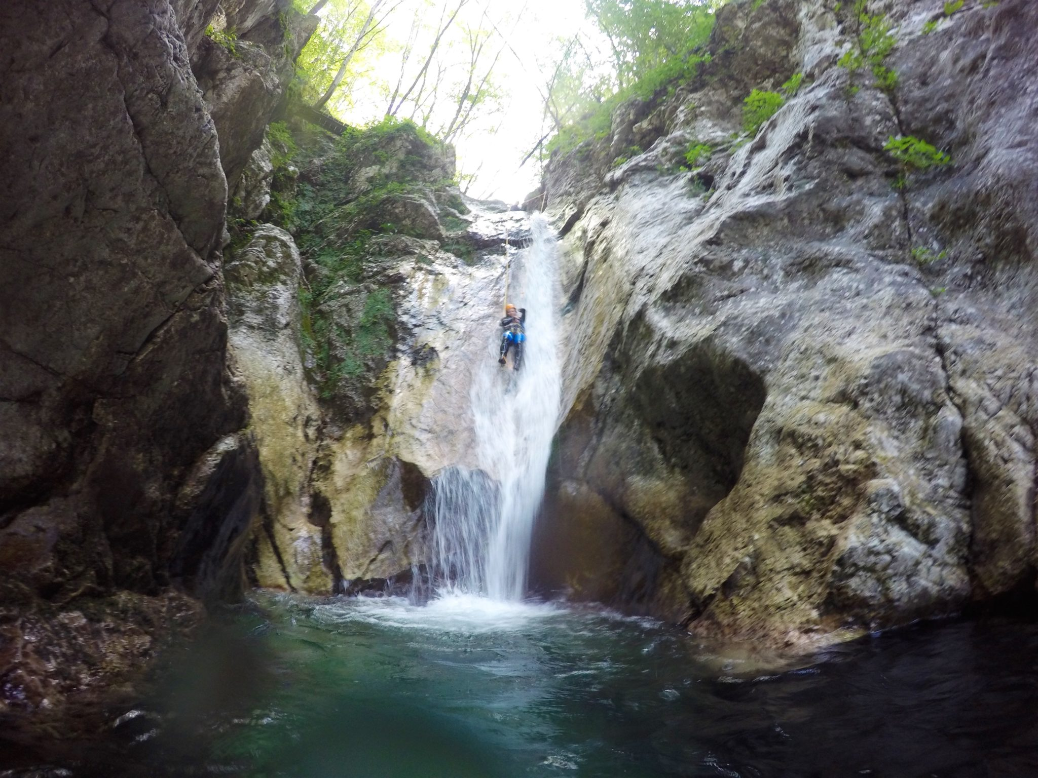 Canyoning in Susec, Slovenia