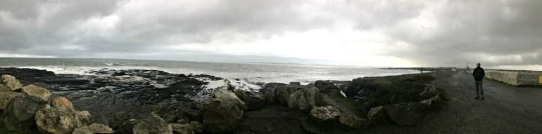 Rock surrounding Hook Head Lighthouse panoramic