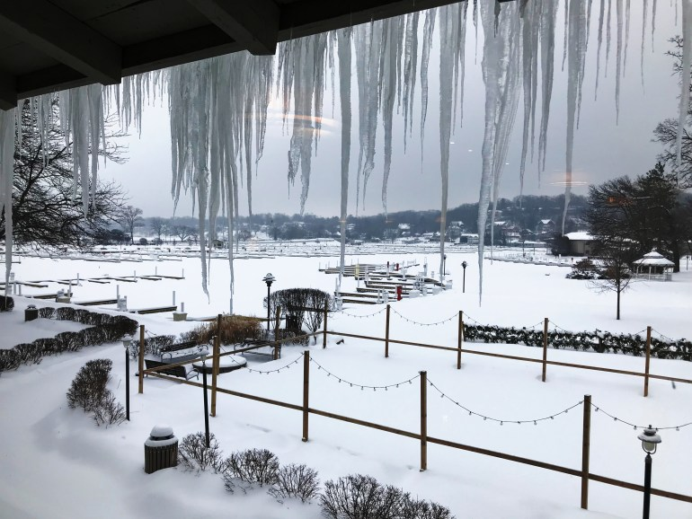View from the window, at breakfast, at the Abbey Resort, Things to do In Lake Geneva with Kids