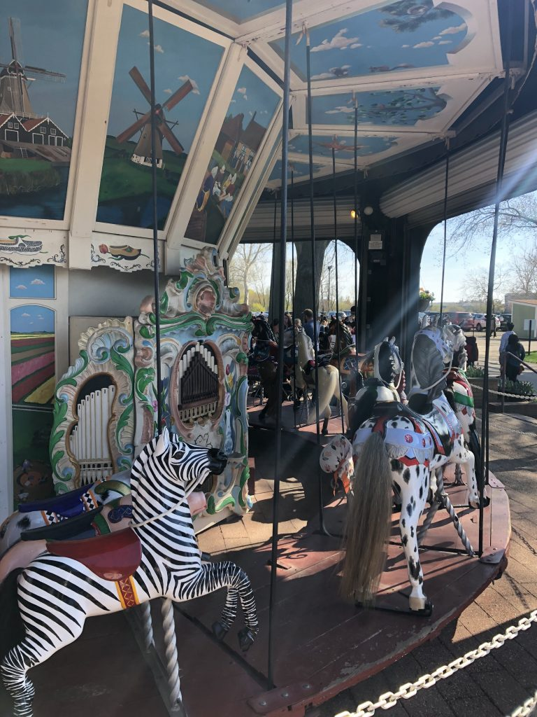 Tulip Time with Kids, Windmill Island Gardens carousel