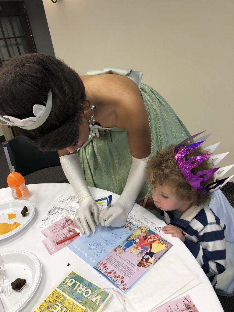 Tulip Time for families, Tulip Princess Tea Party with Princess Tiana