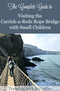 Crossing the Carrick-a-Rede Rope Bridge with a Toddler Pinterest image