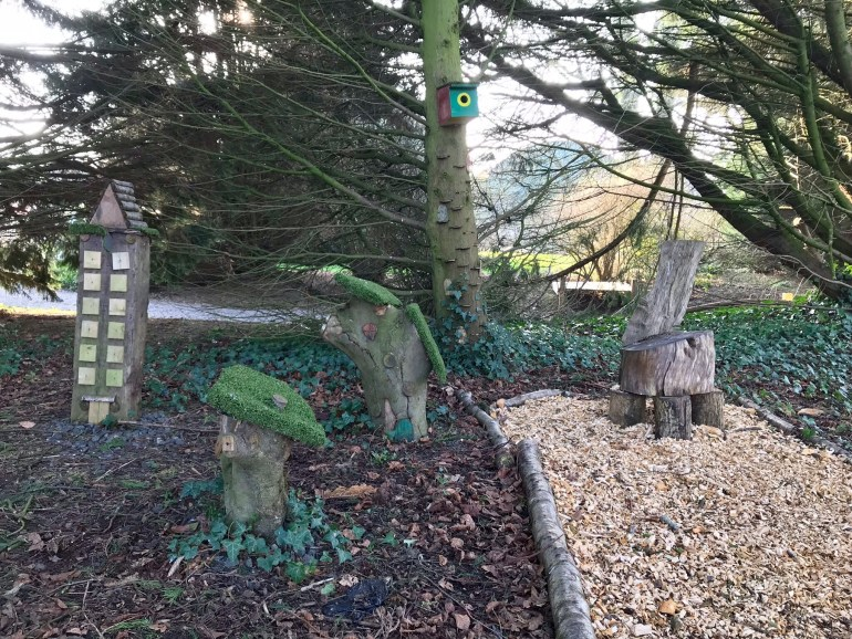 Fairy houses at Gracehill House near the Dark Hedges, place for babies and toddlers to play
