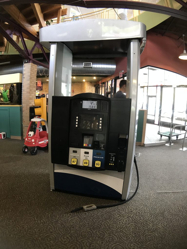 Little Grand Rapids gas pump at the Grand Rapids Children's Museum