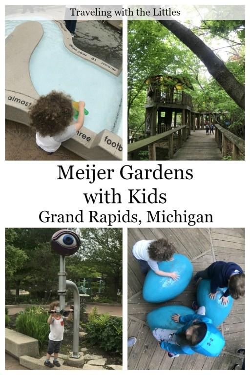 Pinterest image-Meijer Gardens with kids