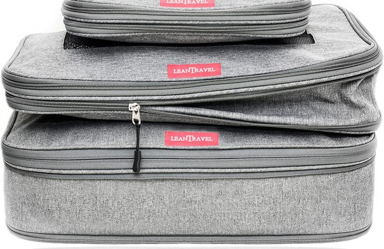 Lean Travel compression packing cubes-3 pack in grey