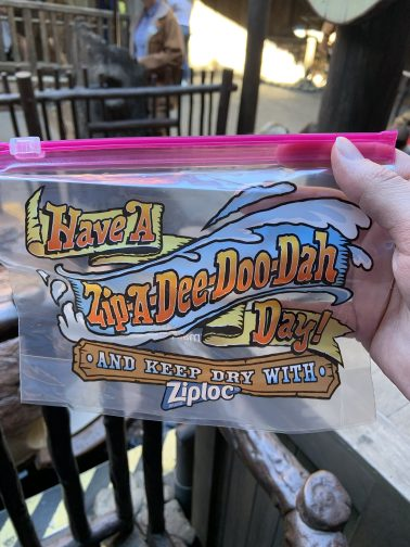 I like that they give these out now at Splash Mountain