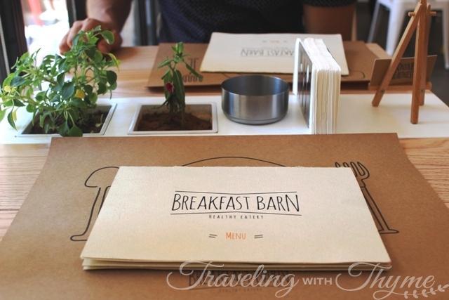 Breakfast Barn menu