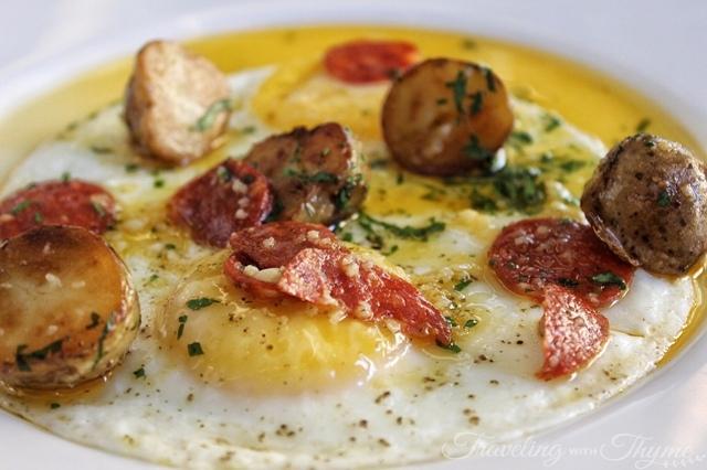 La Petite Table Dbayeh Eggs Chorizo