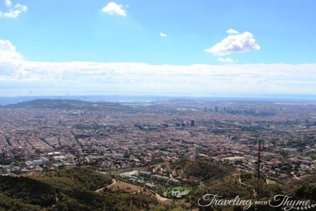 barcelona tibidabo ferris wheel view