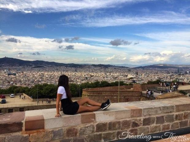Barcelona Montjuic Castle View