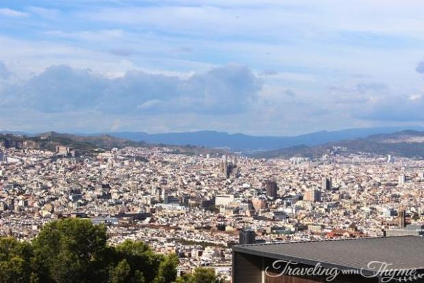 Barcelona Montjuic Castle View of City