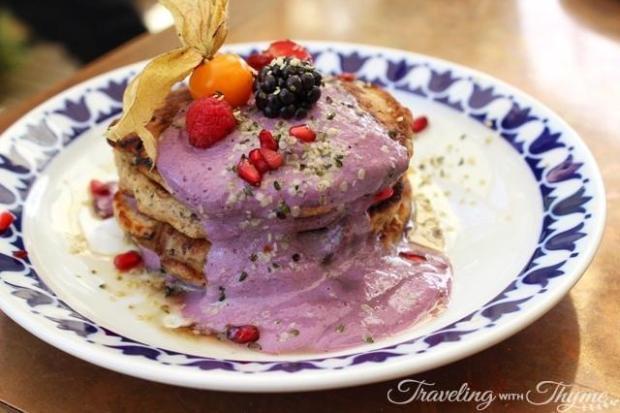 Flax and Kale Barcelona Pancakes