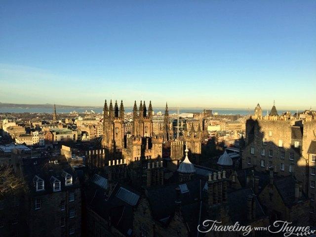 Edinburgh Castle Birdseye View