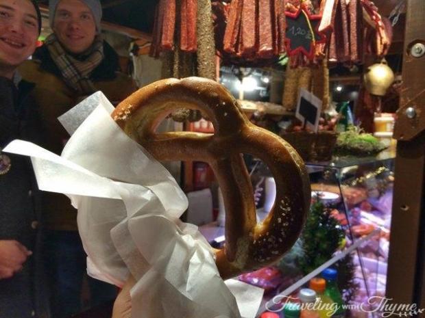 Edinburgh Christmas Market Pretzel