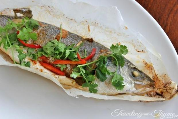 Gray Sea Bass Fish Herbs Recipe