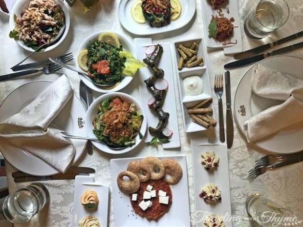 Cold Mezza Sunday Lunch Brasero Villa Linda Sursock