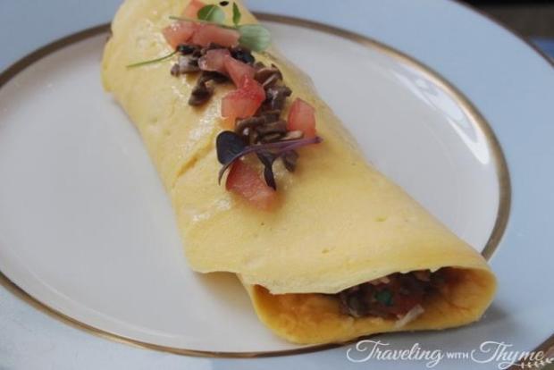LaDuree omelet omelette brunch