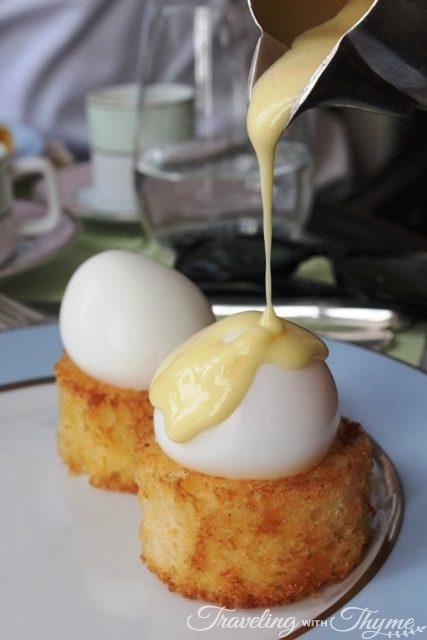 LaDuree eggs benedict salmon breakfast