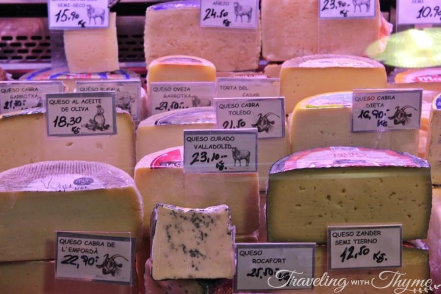 La Boqueria Market Barcelona Cheese Queso