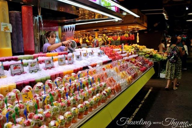 La Boqueria Market Barcelona Fruits Juice