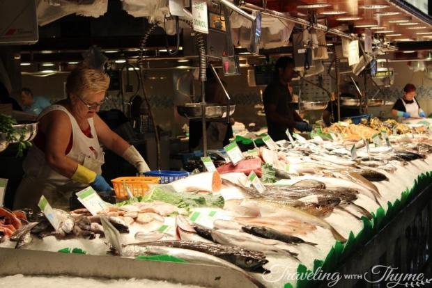 La Boqueria Market Barcelona Seafood Fresh