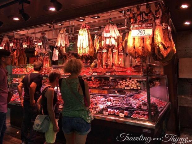 La Boqueria Market Barcelona Spanish Jamon