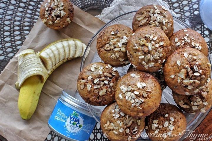 vita coco healthy banana muffins