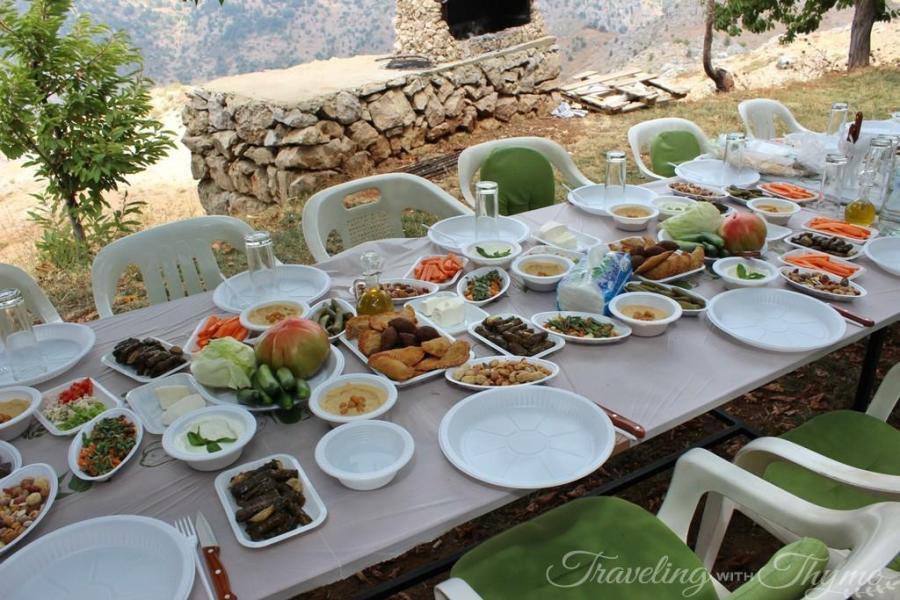 Atelier du Miel Tannourine Lunch Lebanese