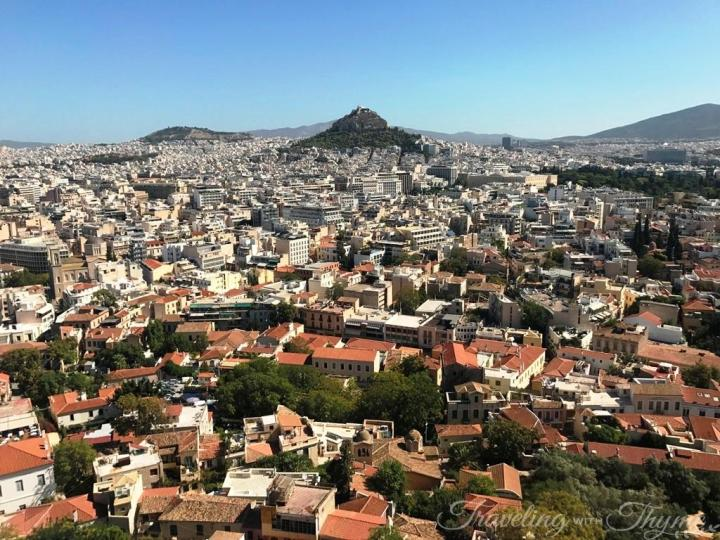 Acropolis Hill Athens Greece Cityscape View