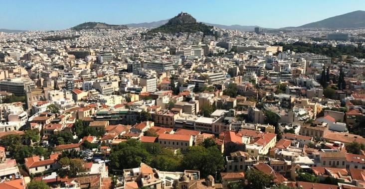 Acropolis Hill Athens Greece Cityscape View