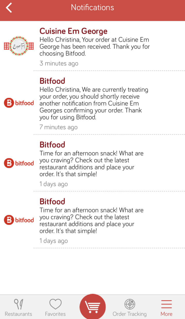 Online Delivery App in lebanon BitFood