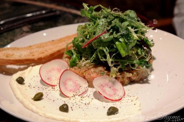 Chez Alain Restaurant Broumana Salmon Tartar