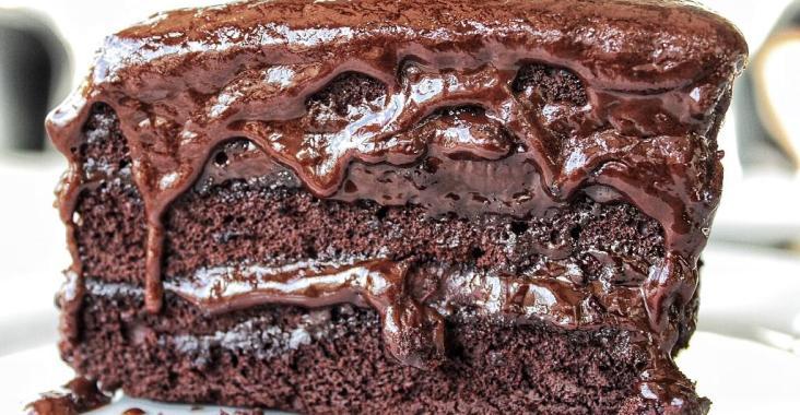Sandwiched Diner Dessert Chocolate Cake Fudge