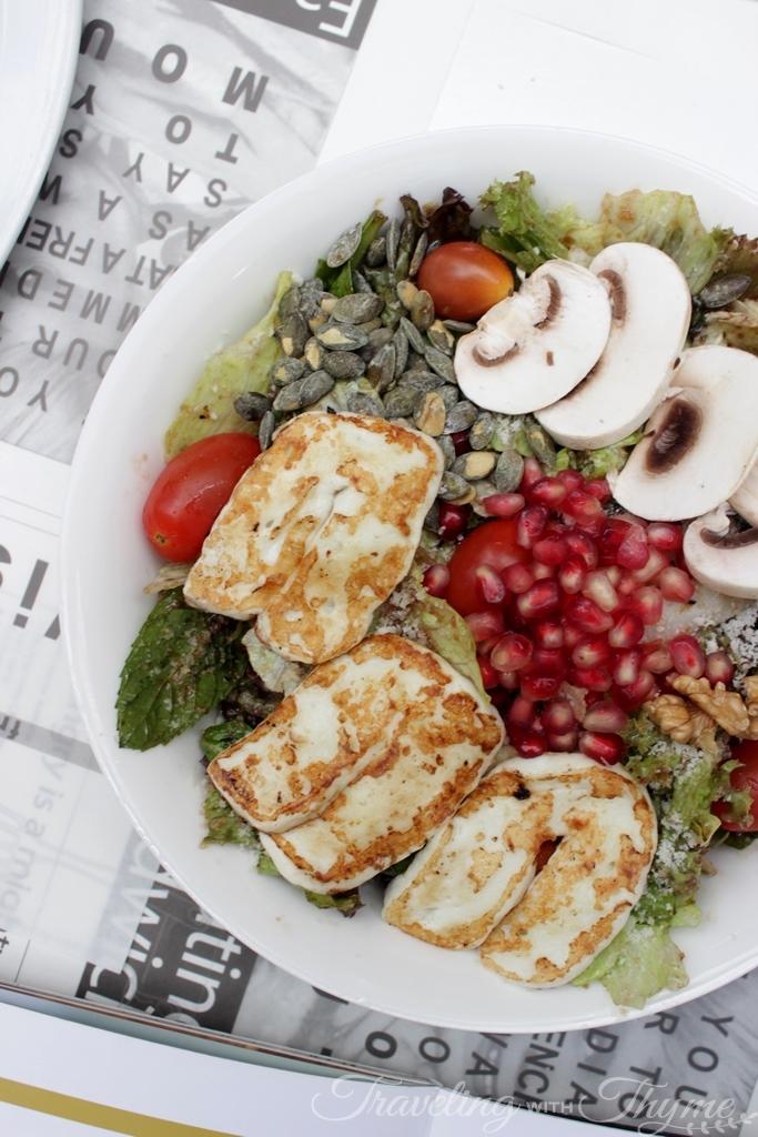 Sandwiched Diner East West Salad Halloum